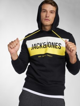 Jack & Jones Felpa con cappuccio jcoBlock nero