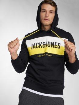 Jack & Jones Hoodie jcoBlock svart