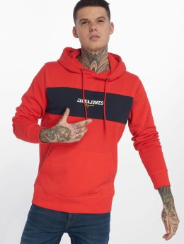 Jack & Jones Hoodies jorJosh červený