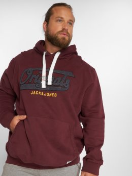 Jack & Jones Hoodies jorFara rød