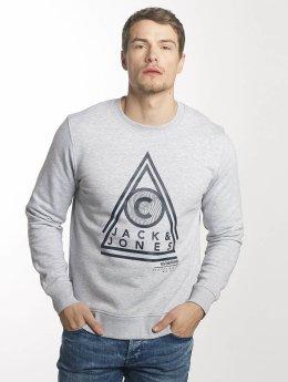 Jack & Jones jcoGeometric Sweatshirt Light Grey Melange