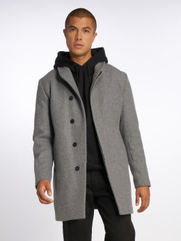 Jack & Jones Kabáty jprNewgotham šedá