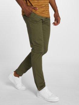 Jack & Jones Látkové kalhoty jjMarco Jenzo olivový