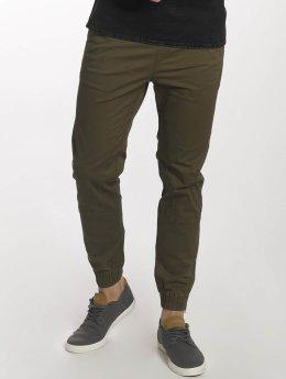 Jack & Jones Látkové kalhoty jjiVega jjBob olivový