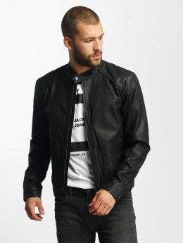 Jack & Jones Leather Jacket jjorOriginals PU Leather black