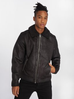 Jack & Jones Leather Jacket jorAviator black
