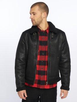 Jack & Jones Leather Jacket Jpral black