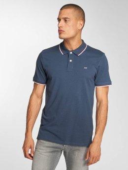Jack & Jones Poloshirt jjeContrast Stripe blau