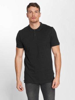 Jack & Jones Männer Poloshirt jjeBasic in schwarz