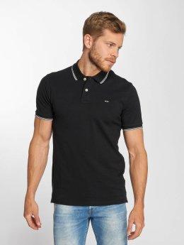 Jack & Jones Poloshirt jjeContrast Stripe schwarz