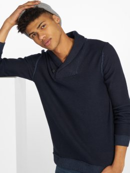 Jack & Jones Pullover Jorkaiden High Neck blau