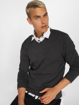 Jack & Jones Pullover jjeBasic grau