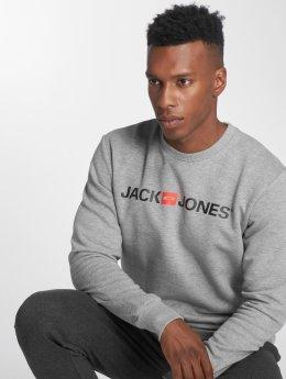 Jack & Jones Pullover jjeCorp Logo grau