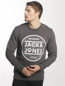 Jack & Jones Pullover jcoGeometric grau