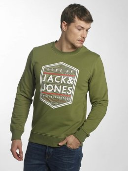 Jack & Jones Pullover jcoGeometric grün