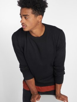 Jack & Jones Pullover jjeBasic Knit schwarz