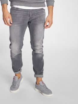 Jack & Jones Slim Fit Jeans jjiTim jjOriginal šedá