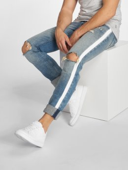 Jack & Jones Slim Fit Jeans jjiGlenn jjOriginal JOS 102 blauw