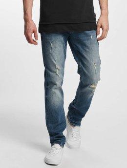 Jack & Jones Slim Fit Jeans jjTim Original CR 004 modrá