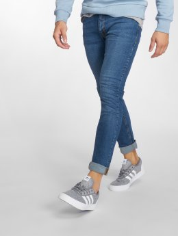 Jack & Jones Slim Fit Jeans jjiLiam jjOriginal modrý