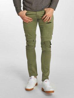 Jack & Jones Slim Fit Jeans jjiGlenn jjJaxx Biker olijfgroen