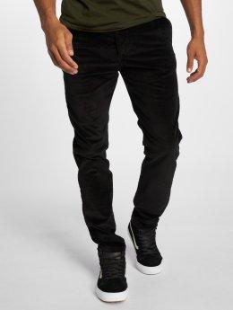 Jack & Jones Spodnie wizytowe Jjimarco Jjcorduroy Akm 594 Black Ltd czarny