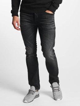 Jack & Jones Straight Fit Jeans jjTim Original JJ 023 svart