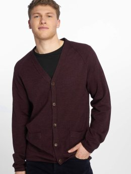 Jack & Jones Strickjacke jprUnion rot
