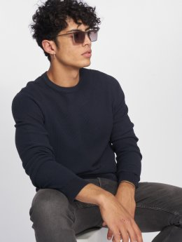 Jack & Jones Svetry jjeStructure Knit modrý
