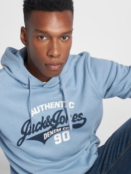 Jack & Jones Sweat capuche jjeLogo bleu