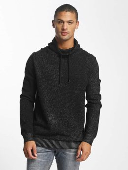 Jack & Jones Sweat capuche jcoTaoma Knit High Neck noir