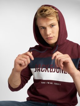 Jack & Jones Sweat capuche jcoBlock rouge