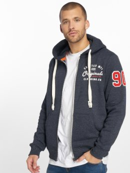 Jack & Jones Sweat capuche zippé jorCamps bleu