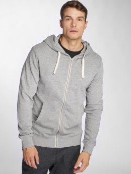 Jack & Jones Sweat capuche zippé jjeHolmen gris