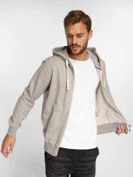 Jack & Jones Sweat capuche zippé jjePique gris