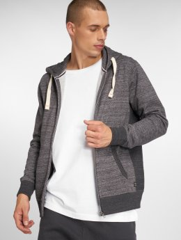 Jack & Jones Sweat capuche zippé jjeSpace gris
