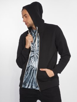Jack & Jones Sweat capuche zippé jjePique noir