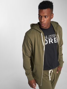 Jack & Jones Sweat capuche zippé jjeHolmen olive