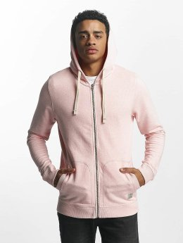 Jack & Jones Sweat capuche zippé jjvRecycle rose