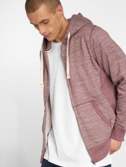 Jack & Jones Sweat capuche zippé jjeSpace rouge
