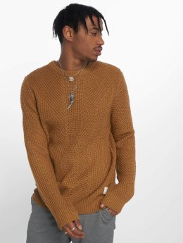 Jack & Jones Swetry jcoStanford brazowy