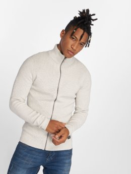 Jack & Jones Swetry rozpinane jjeRibbed bialy