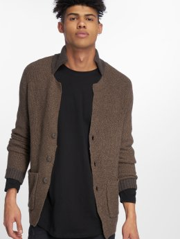 Jack & Jones Swetry rozpinane jprRoy Knit Blazer brazowy