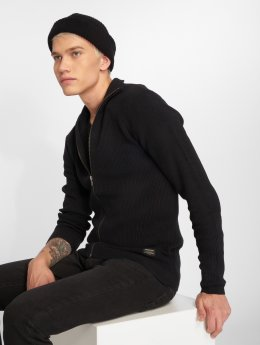 Jack & Jones Swetry rozpinane jjeRibbed czarny