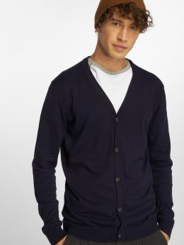 Jack & Jones Swetry rozpinane jprChamp Knit niebieski