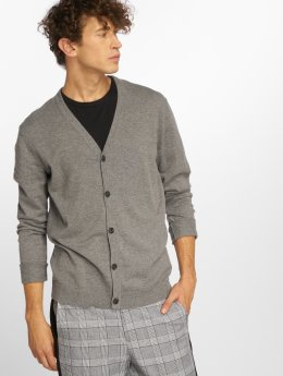 Jack & Jones Swetry rozpinane  jprChamp Knit  szary