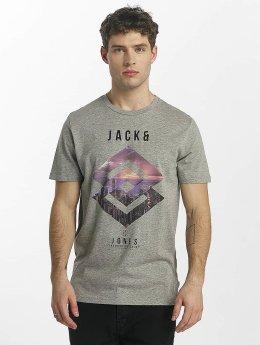 Jack & Jones T-paidat jcoSpring-Felling harmaa