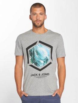 Jack & Jones T-paidat jcoLax harmaa