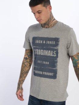 Jack & Jones T-paidat jorRejistood harmaa