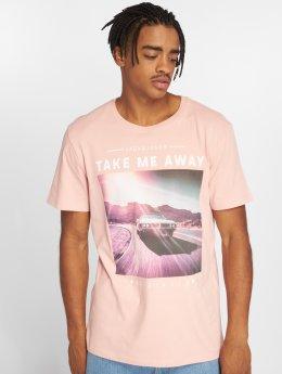 Jack & Jones T-paidat Jorfahren vaaleanpunainen